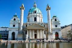 Karlskirche в Вена, Австралии Стоковые Изображения
