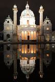 Karlskirche в вене, Австрии Стоковая Фотография