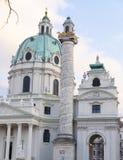 Karlskirche -圣查尔斯的教会 库存图片