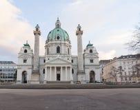Karlskirche -圣查尔斯的教会 库存照片