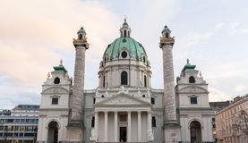 Karlskirche -圣查尔斯的教会 免版税库存图片