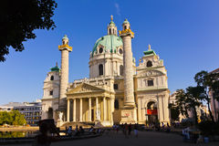 Karlskirche -维也纳奥地利 库存图片