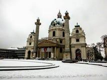 Karlskirche royaltyfri bild