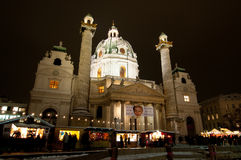 Karlskirche Foto de Stock Royalty Free