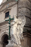 Karlskirche Anget Statue - Vienna Royalty Free Stock Images