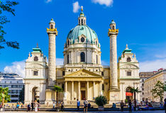 Karlskirche church Royalty Free Stock Images