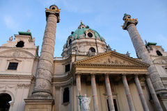 Karlskirche Church in Vienna, Austria Stock Images