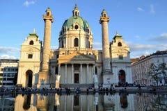 Karlskirche en Wienna Foto de archivo