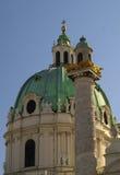 Karlskirche famoso Fotografia Stock Libera da Diritti