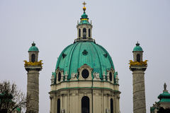 Karlskirche-Hauben-St- Charles` s Kirche Stockbild