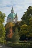 Karlskirche kościelna kopuła w Wiedeń Obraz Stock