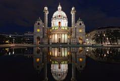 Karlskirche (kyrka för St. Charless) Arkivfoto
