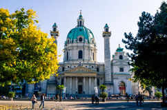 Karlskirche stock image
