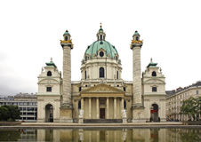 Karlskirche (St. Charles's Church) in Vienna. Austria Royalty Free Stock Images