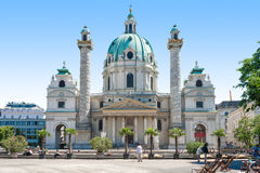 The Karlskirche (St. Charles's Church), Vienna (Wein) Stock Photography