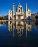 Karlskirche, Viena, Áustria fotos de stock royalty free