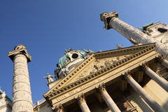 Karlskirche a Vienna Fotografia Stock