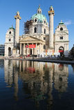 Karlskirche in Vienna Stock Photo