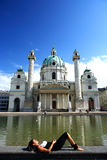 Karlskirche in Vienna Stock Photography