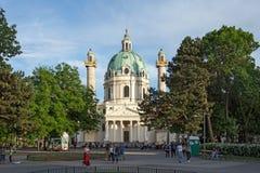 Karlskirche a Vienna, Austria fotografie stock libere da diritti