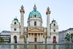 Karlskirche in Vienna, Austria in the afternoon Stock Photography