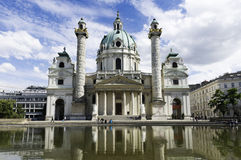 Karlskirche, Vienna Royalty Free Stock Photography