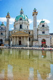 Karlskirche in Vienna, Austria Royalty Free Stock Photo