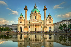 Karlskirche in Vienna, Austria. St. Charles's Church Stock Photography