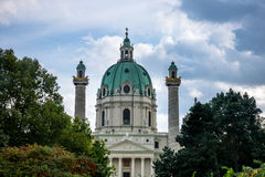 Karlskirche Vienna Stock Photo