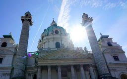 Karlskirche in Vienna Stock Photography