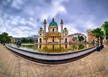 Karlskirche in Vienna Stock Image