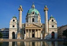 Karlskirche in Wenen, Oostenrijk royalty-vrije stock afbeelding