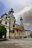 Karlskirche in Wenen, Oostenrijk Royalty-vrije Stock Afbeeldingen