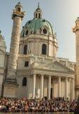 Karlskirche Wiedeń Austria obraz stock
