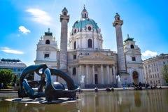Karlskirche Wiedeń Austria Fotografia Stock