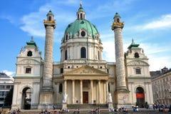 Karlskirche in Wien, Österreich stockbilder