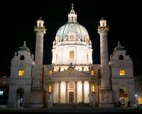 Karlskirche in Wien stockbild