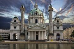 Karlskirche - Wien - Österreich Stockbild