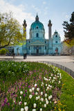 Karlskirchen (kyrkan för St. Charless) Royaltyfria Bilder