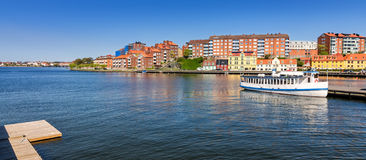 Karlskrona city architecture - sea bay view Royalty Free Stock Image