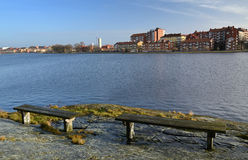 Karlskrona city coast Stock Photo