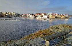 Karlskrona \ 'horizontal de l'hiver de s Image libre de droits