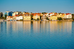 Karlskrona in the morning sun Royalty Free Stock Image