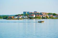 Karlskrona w ranku słońcu Obrazy Stock