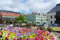 Karlskronos quadrado, Klaipeda, Lituânia Fotos de Stock Royalty Free