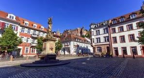 Karlsplatz in Heidelberg city, Germany Royalty Free Stock Image