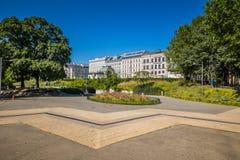 Karlsplatz i mitten av Wien, Österrike Royaltyfria Bilder