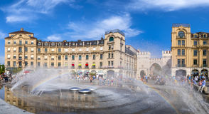 Karlsplatz oder Stachus in München, Bayern Lizenzfreie Stockfotografie