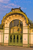 Karlsplatz old Stadtbahn station in Vienna Secession style Stock Photos