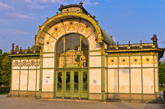 Karlsplatz old Stadtbahn station in Vienna Secession style Royalty Free Stock Photos